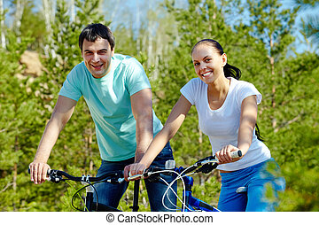 kerékpározás, együtt