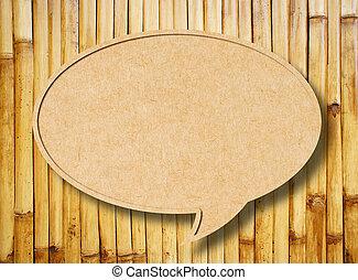 kerítés, dolgozat, beszéd, háttér, újra hasznosít, bambusz, buborék