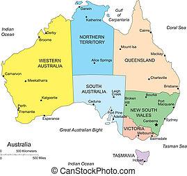 kerületek, ausztrália, adminisztratív
