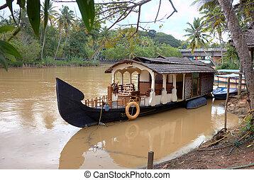 kerala, backwaters., kerala, inde