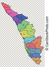 Kerala map. Kerala (states and union territories of india, federated on kerala political map, kerala road map, karnataka tourism map,