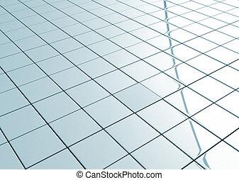 keramisch, vloer, tiled