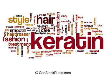 Keratin word cloud