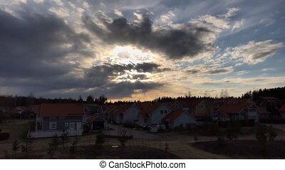 Kerava, Finland in spring timelapse video