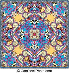 kerchief, firkantet, halsen, ukrainian, mønster, s, ...
