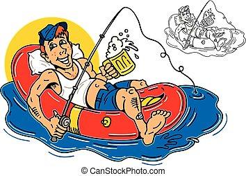 kerel, rafting