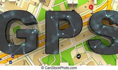 keres, city., geolocation., koordinál, kívánatos, át, gps.,...