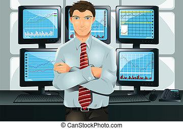 kereskedő, részvény