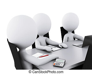 kereskedelmi ügynökség, emberek, room., gyűlés, 3