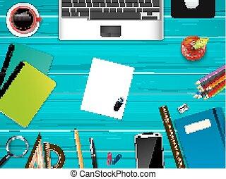 kereskedelmi ügynökség, tető, workplace, háttér, kilátás