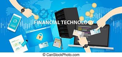kereskedelmi, anyagi, bankügylet, fintech, technológia, ...