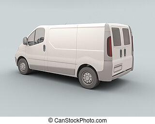 kereskedelmi, fehér, furgon