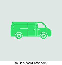 kereskedelmi, furgon, ikon