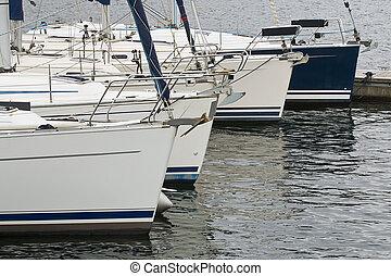 kereskedelmi, vitorlázik, csónakázik