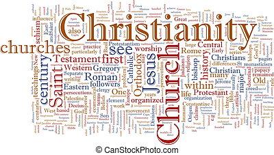 keresztény, felhő, szó