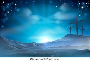 keresztény, húsvét, ábra