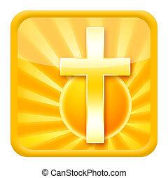 keresztény, ikon