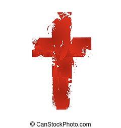 keresztény, kereszt, aláír