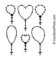 kereszténység, vektor, illustration., tervezés