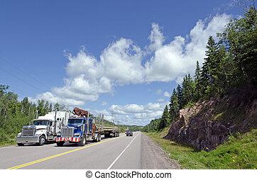 keresztül, kanada, autóút