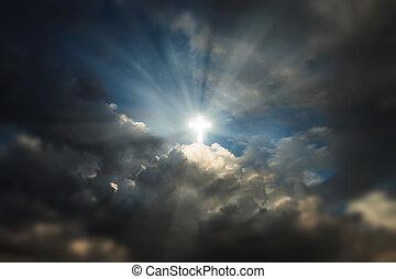 kereszt, alatt, ég