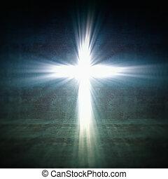 kereszt, fény
