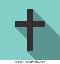 kereszt, keresztény, árnyék, hosszú