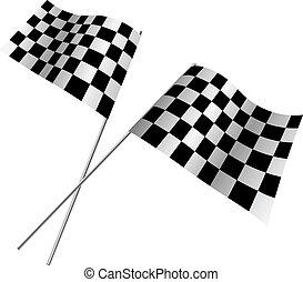 keresztbe tett, flags., versenyzés