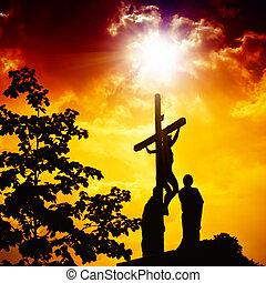 keresztre feszítés, jézus