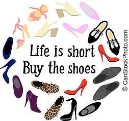 keret, cipők