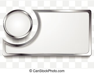 keret, fém, ezüst, háttér