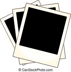 keret, fénykép, polaroid