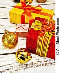 keret, függőleges, christmas dekoráció, doboz, tehetség, karácsony