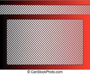 keret, piros háttér, ezüst
