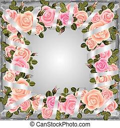 keret, rózsa