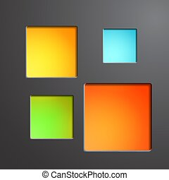 keret, színes