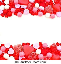 Keret,  valentines, Nap, Cukorka