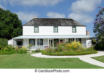 Historic Mission Station Kemp House (1821) - the oldest building in New Zealand, in Kerikeri, Northland, Kerikeri, Far North District, Northland Region, New Zealand (NZ).