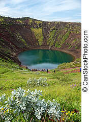 Keri? volcanic crater lake also called Kerid or Kerith in...