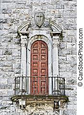 kerk, balkon