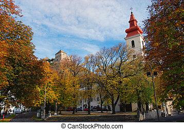 kerk, en, kasteel, -, sumeg, hongarije