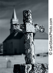 kerk, graveyard