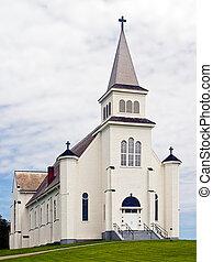 kerk, op, straat., peter\'s, baai, pei, canada