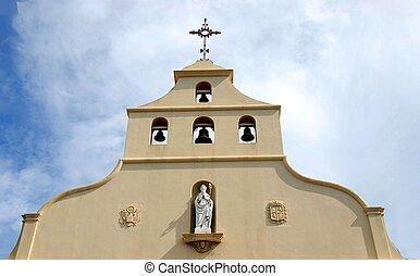 kerk torenspits, klokken