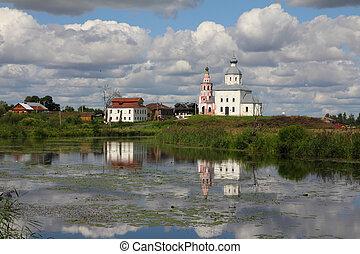 kerk, van, elijah, de, profeet, -, suzdal, rusland