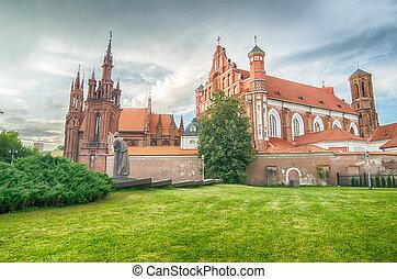 kerken, in, vilnius, litouwen
