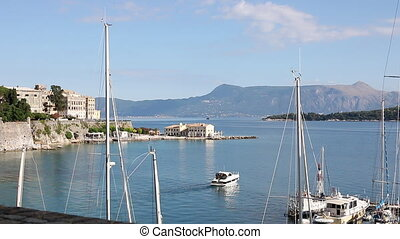 Kerkyra old town Corfu island