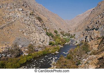 Kern River through Kern Canyon near Bakersfield, California