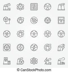 kernmogendheid, iconen, set