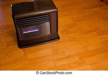 Kerosene fan heater - Burning kerosene fan heater on the...